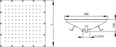 Плато аэромассажное квадратное 400 х 400 мм Аквасектор (под бетон)