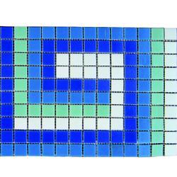 Фриз ЗигЗаг U-41 из стеклянной мозаики