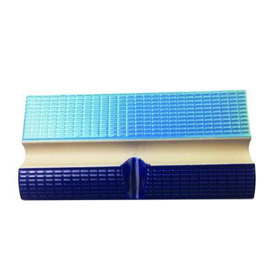 Плитка бордюрная с поручнем и водостоками кобальт+голубой Aquaviva 240x115x30 мм