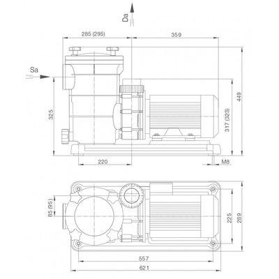 Насос BADU FA21-60/45 с префильтром, 45 м3/час, 3,10/2,60 кВт, 380В