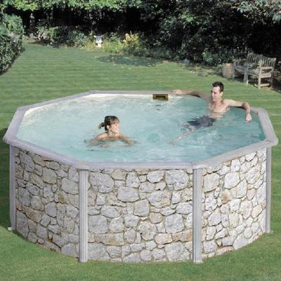 Бассейн круглый 460х132 см (камень) Dream Pool Gre