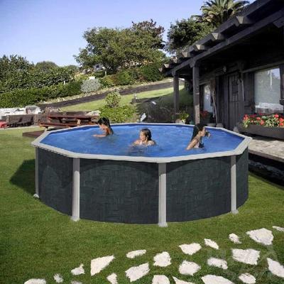 Бассейн круглый 460х132 см (ротанг) Dream Pool Gre