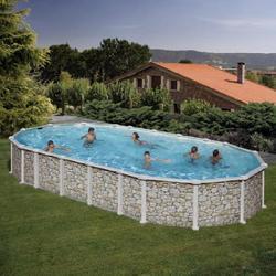 Бассейн овальный 610х375х132 см (камень) Dream Pool Gre