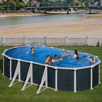 Бассейн овальный 730х375х132 см (ротанг) Dream Pool Gre