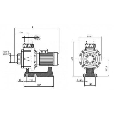 Насос Kripsol Karpa KA-450, без префильтра, 67 м3/час, 4.3 кВт, 380В