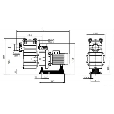 Насос Kripsol KAN-1010 T2.B, с префильтром, 135 м3/час, 8.7 кВт, 380В