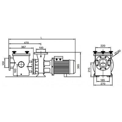 Насос Kripsol Kriptоn KRF-1260В-Т2.В, с префильтром, 155,6 м3/час,10.7 кВт, 380В, чугун с брон крыльч.