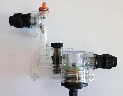 Амперометрический датчик свободного хлора Cl2 с регулированием потока