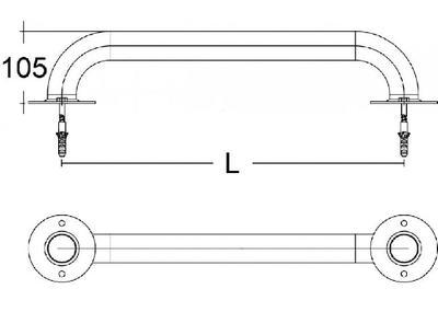 Поручень  2.5 м Emaux AlSI 304