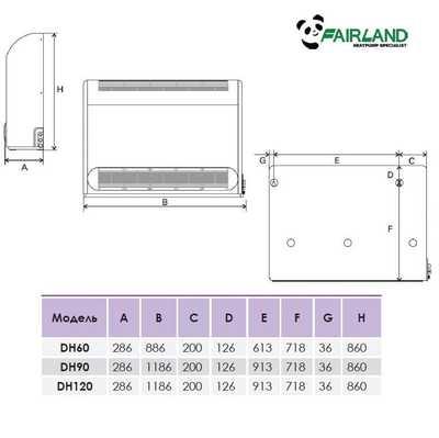 Осушитель воздуха Fairland DH60 (60 л/сутки)