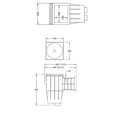 Скиммер под лайнер YAEL042 Standard Fiberpool