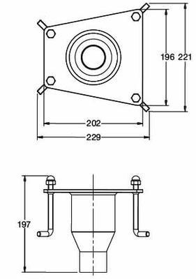 Закладня деталь для водопада BALI MINI, AISI 316