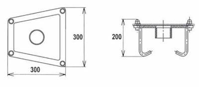 Закладная деталь для водопада BALI, AISI 316