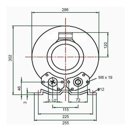 """Компрессор HPE 0,85 кВт, 145 м3/час, 1,5"""", 220В"""
