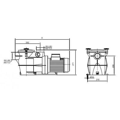 Насос Kripsol Koral KS-150, с префильтром, 21,9 м3/час, 1,6 кВт, 380В
