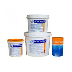 ЛОНГАФОР медленный органический хлор (табл. 20г) ведро 1 кг (б.) /(1уп=12шт)