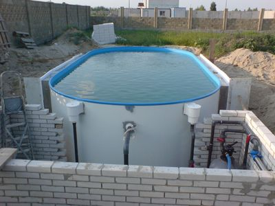 Бассейн овальный Oval  800х420х150 см Summer Fun