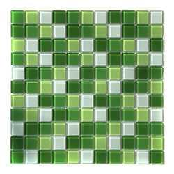 Мозаика стеклянная Aquaviva Сristall Green Light DCM173