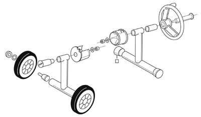 Наматывающее устройство подъёмно-откатное с телескопической штангой: 5,4 – 7,1 м