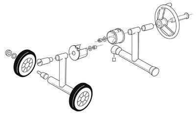 Наматывающее устройство подъёмно-откатное с телескопической штангой: 3,7 – 5,4 м