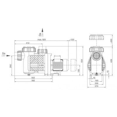 Насос BADU Prime 30, с префильтром, 30 м3/час, 2,00/1,50 кВт, 380В
