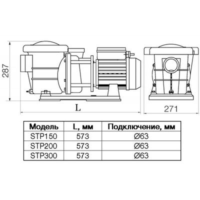 Насос STP300, с префильтром, 30 м3/час, 220В